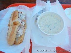 crab sandwich & chowder