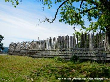 old wooden fence line