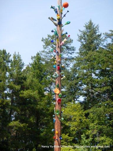 decorative glass post
