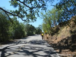 climb up Foothill Rd
