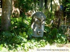 Tiki head statue