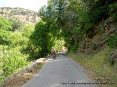 climb up Mix Canyon-10-13% grades
