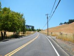 climb up Pig Farm Hill-7-8% grades