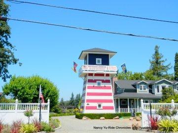 American flag water tower