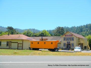 old train depot boxcar
