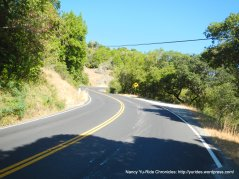 climb up Lucas Valley Rd