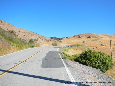 climb up Lucas Valley Rd