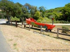 Pt Reyes Petaluma Rd red boat