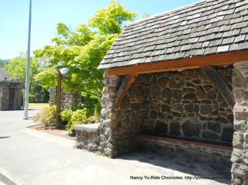 stone bus stop