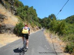 steep climb-Cavedale Rd