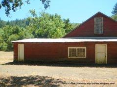 red farm house