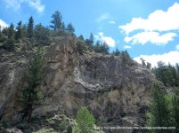 rugged granite canyon wall