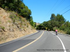 climb Lucas Valley Rd