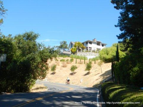 steep climb up Happy Valley