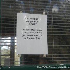 restrooms closed