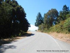 climb up haskins hill-pescadero creek rd to summit