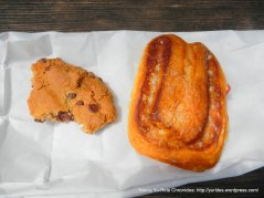butterhorn & chocolate chip cookie