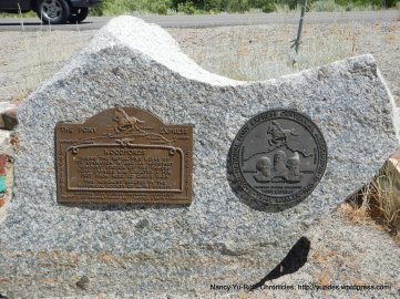 Pony Express plaque
