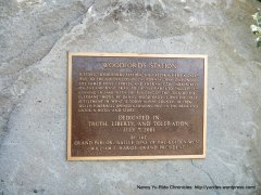 Woodfords Station plaque