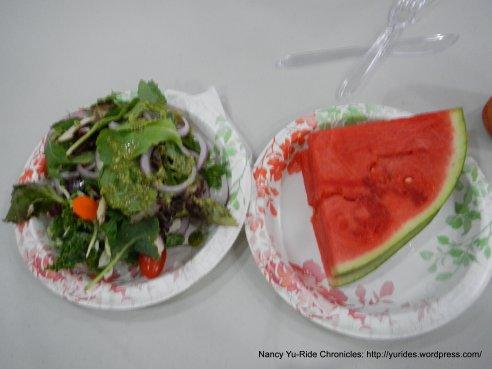 salad & watermelon