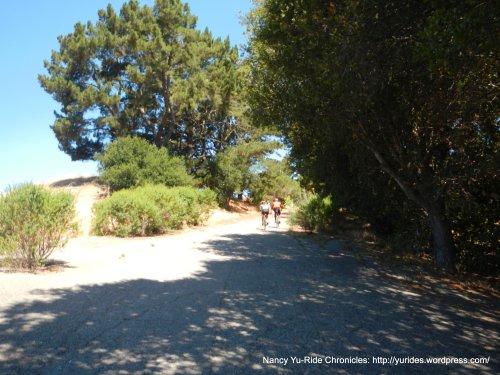 steep climb up to Mulholland Ridge