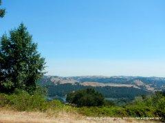 view of briones reservoir