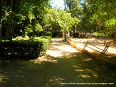 """dirt path to """"hole in the fence"""""""