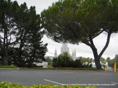 view of Mormon temple