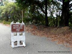 hiker/bicyclist trail
