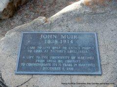 john muir plaque