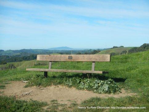 briones crest trail memorial bench