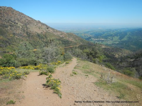 scramble downhill