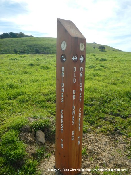 stay on old briones rd trail