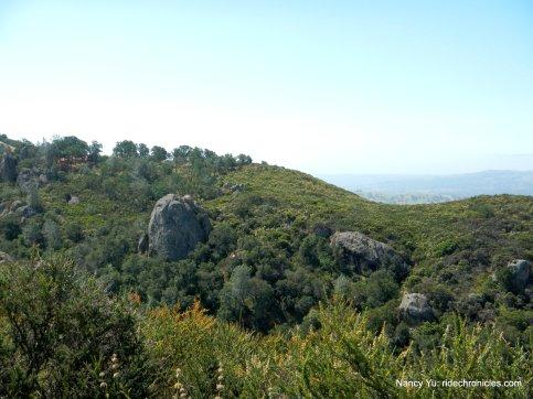 ridge top rock formations