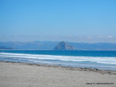 morro strand beach-view of morro rock