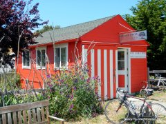 red bike hut