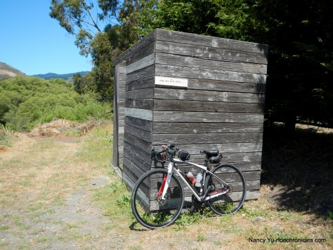 red bike hut