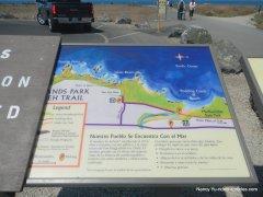 coastal trail info panel