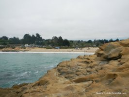 rocky bluff area-view of beach