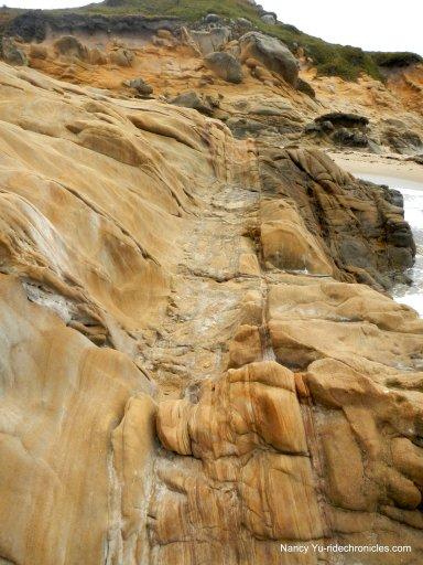 rocky bluff area