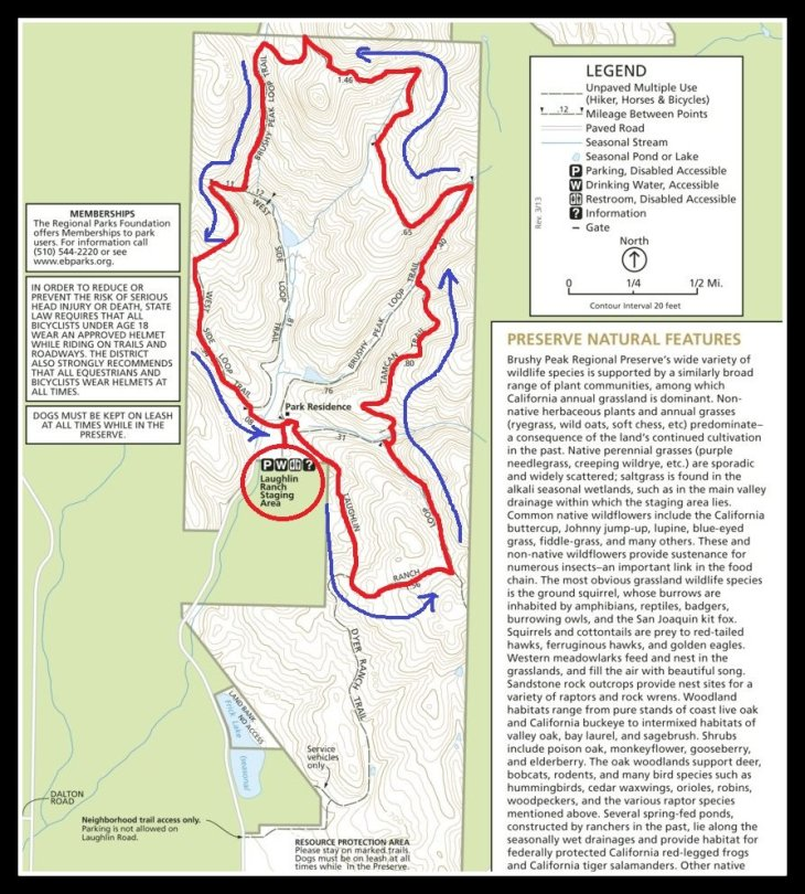 Brushy Peak Map