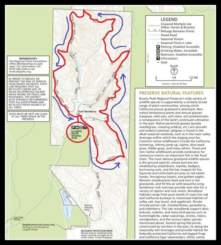 Brushy Peak Map