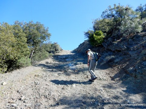 north peak rd-steep rocky slope